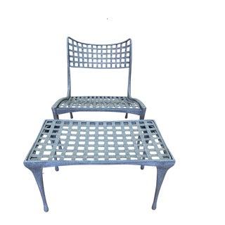 Sol Y Luna Lounge Chair + Ottoman by Brown Jordan For Sale