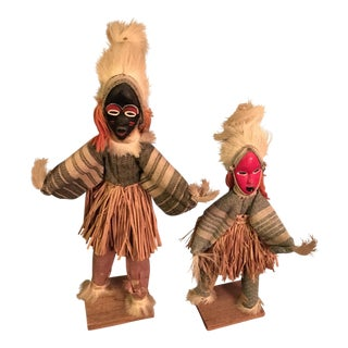 Vintage West African Shaman Dolls - a Pair