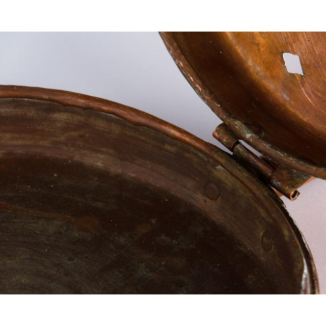 Metal Late 19th Century French Copper Bed Warmer For Sale - Image 7 of 13