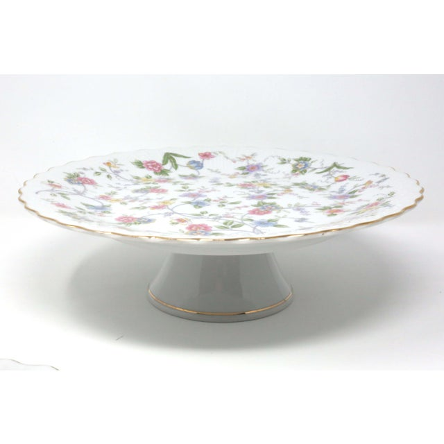 """Japanese Vintage """"Corona"""" Floral Chintz Serving Pieces by Sadek - Set of 3 For Sale - Image 3 of 11"""
