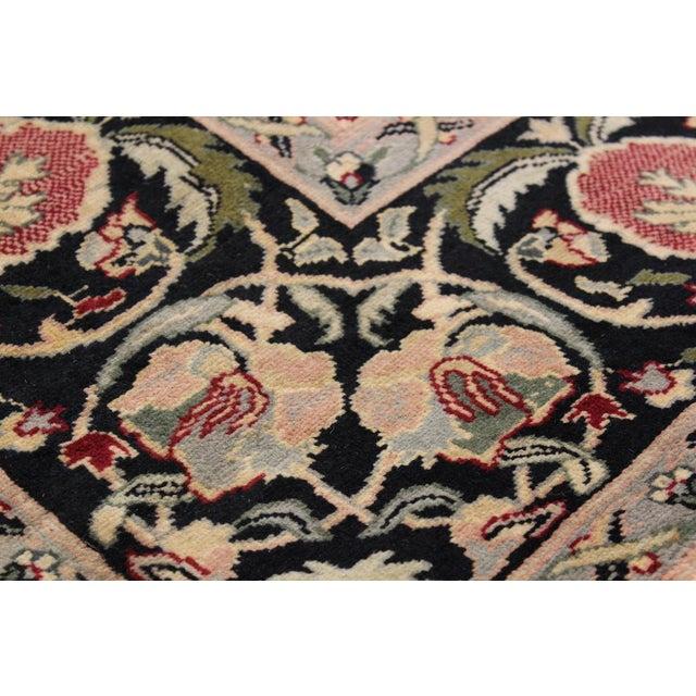 "Contemporary William Morris Pak-Persian Sandi Black Red Wool Rug - 8'11"" x 10'2"" For Sale - Image 3 of 8"