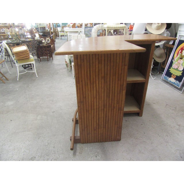 1970s Island Style Bamboo Bar For Sale In West Palm - Image 6 of 8