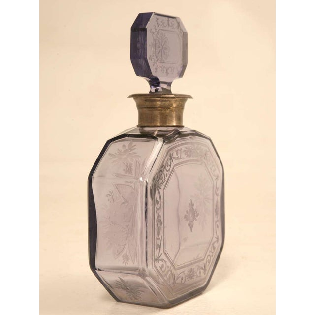 Antique French Engraved Perfume Decanter - Image 5 of 10