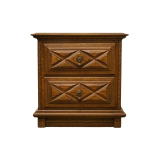 """Young Hinkle Spanish Country Solid Oak 24"""" Nightstand For Sale"""