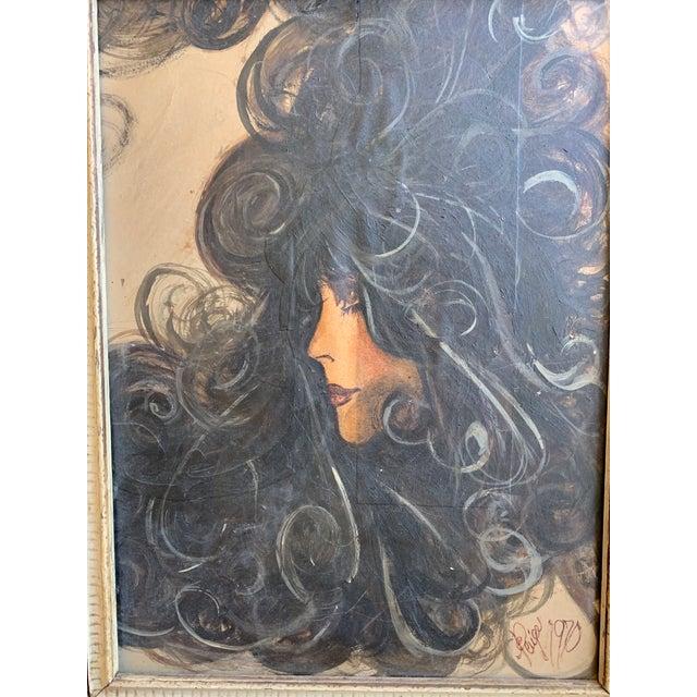 Vintage 1970's Portrait of a Women For Sale - Image 4 of 6
