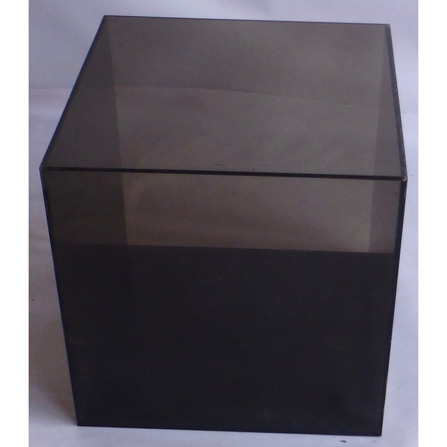 Smoked Lucite Storage Cube - Image 7 of 7