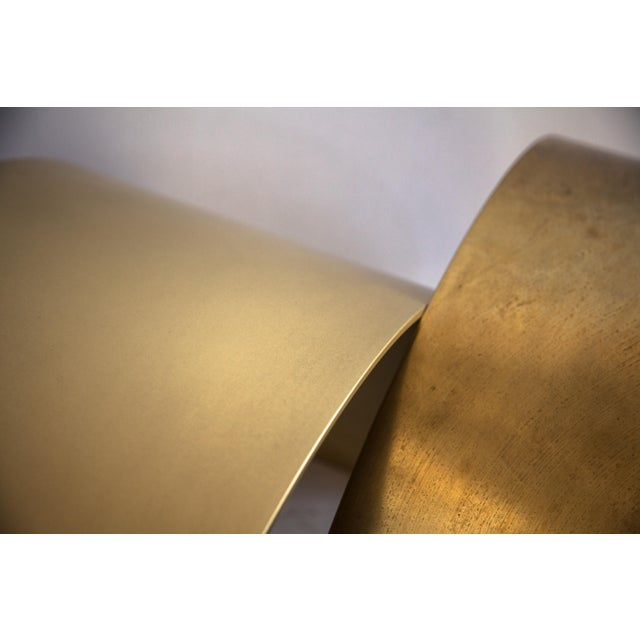 Gold Arc Stool by Ash Nyc in Brass For Sale - Image 8 of 10