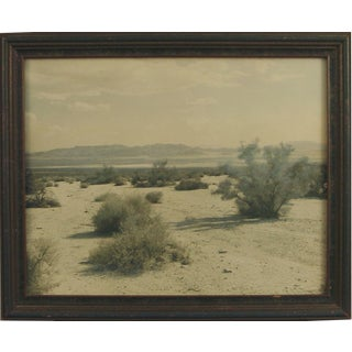 """1920s Vintage """"The White Noon,"""" Tinted Desert Photograph by Stephen H. Willard's, Framed For Sale"""