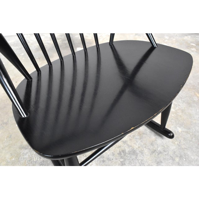 Mid-Century Rocking Chair by Illum Wikkelso For Sale - Image 11 of 13