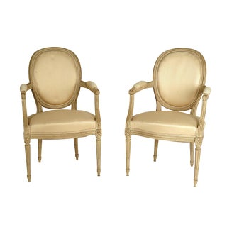 Early 20th Century Louis XVI Style Armchairs - a Pair For Sale