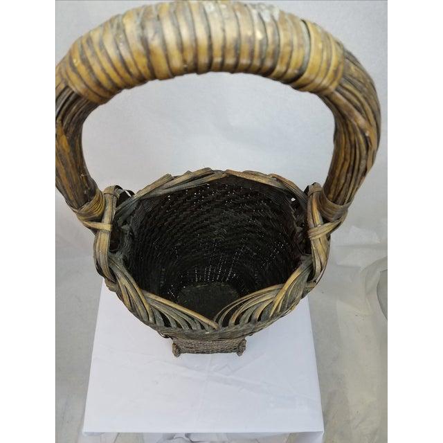 Woven Split Rattan Tall Umbrella Basket - Image 4 of 5