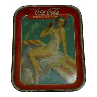 Circa 1930 Vintage Coca Cola Beverage Serving Tray