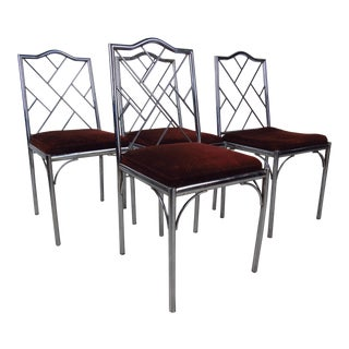 Four Mid-Century Style Dining Chairs For Sale