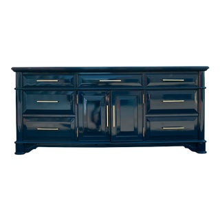 Thomasville High Gloss Blue Sideboard For Sale