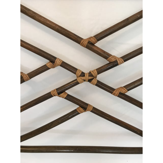 Vintage Chippendale Double or Queen Bamboo Pagoda Headboard For Sale - Image 6 of 9