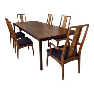 Mount Airy for John Stuart Mid-Century Modern Dining Table & Chairs For Sale