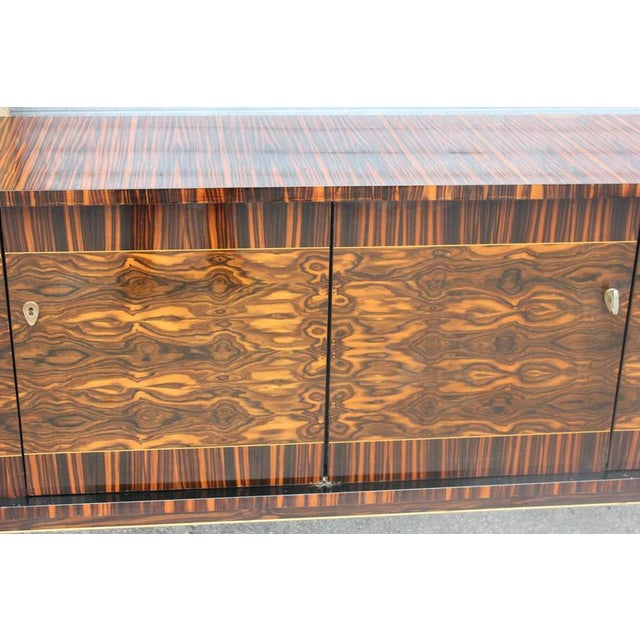 "French Art Deco Exotic Macassar Ebony ""Mushta"" Sideboard / Buffet, circa 1940s - Image 9 of 10"