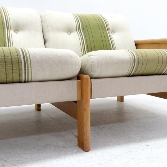 Green 1970's Vintage Bernt Petersen Loveseat Sofa For Sale - Image 8 of 12