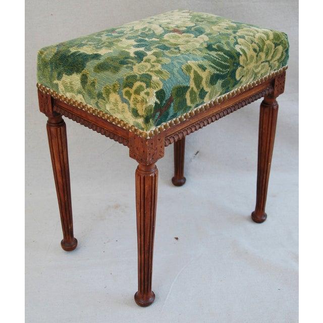 Italian Scalamandre Marly Fabric Bench - Image 10 of 11