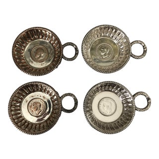 British Coin Wine Tasting Cups - Set of Four For Sale