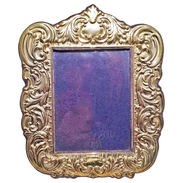 Sterling Vermeil Picture Frame - Image 1 of 3