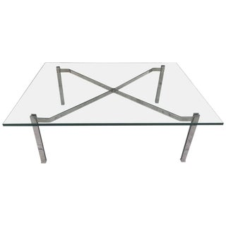 Flat Bar Chrome Coffee Table For Sale