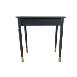 Antique Gray Wood & Golden Dipped Legs Side Table For Sale
