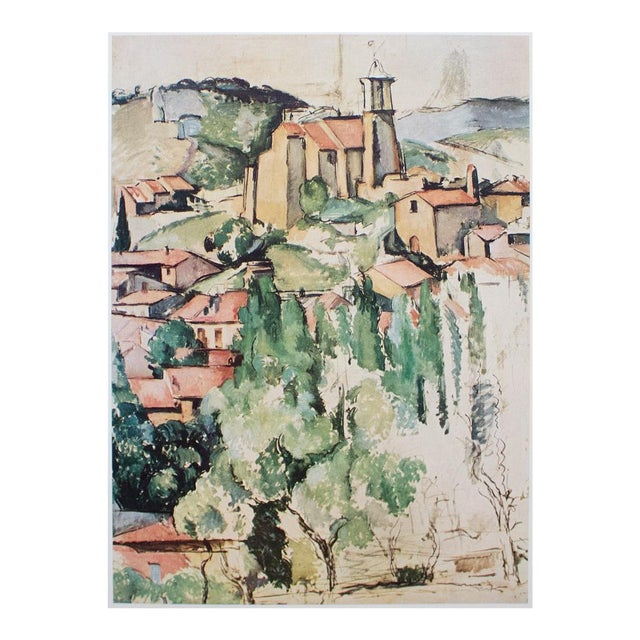 """Original """"View of Gardanne"""" Lithograph by Cezanne For Sale"""