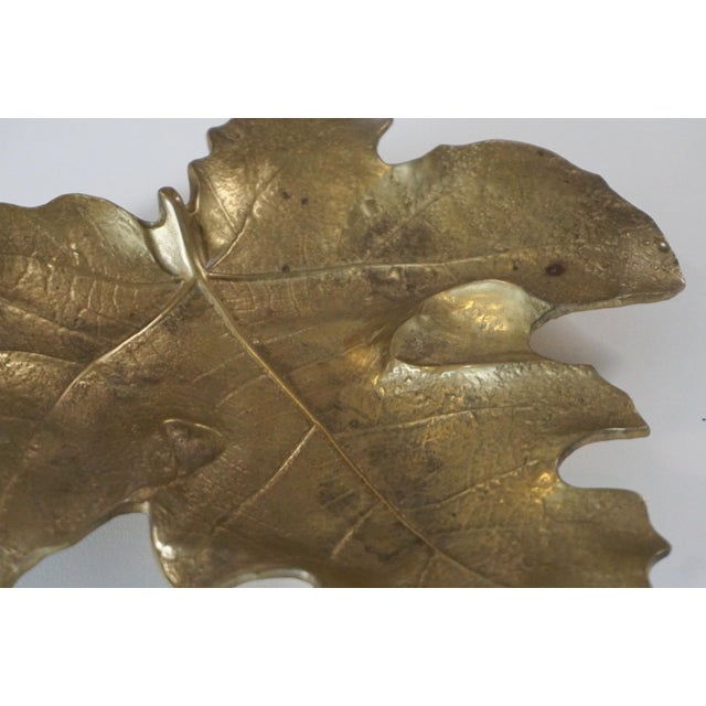 Virginia Metalcrafters 1948 Vintage Va Metalcrafters 4-13 Brass Fig Leaf For Sale - Image 4 of 6