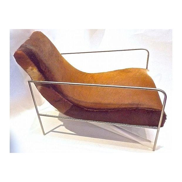 Art Deco Style Cow Hide Upholstered Club Chair - Image 3 of 8