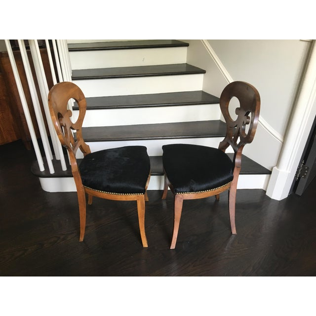 Pair of 19th Century Biedermeier Chairs For Sale - Image 4 of 9