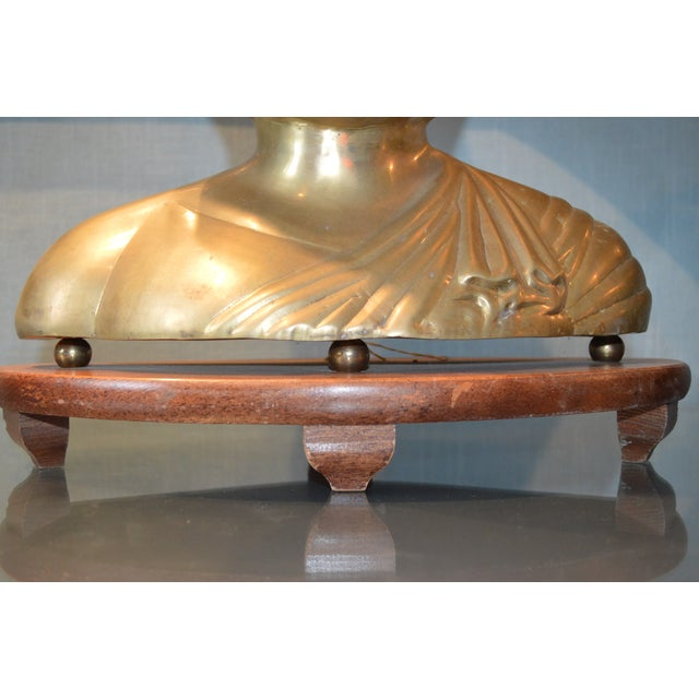 Vintage Solid Brass Buddha Lamps - Pair - Image 7 of 7