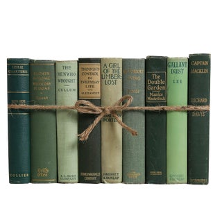 Vintage Boxwood ColorPak : Decorative Books in Shades of Green For Sale