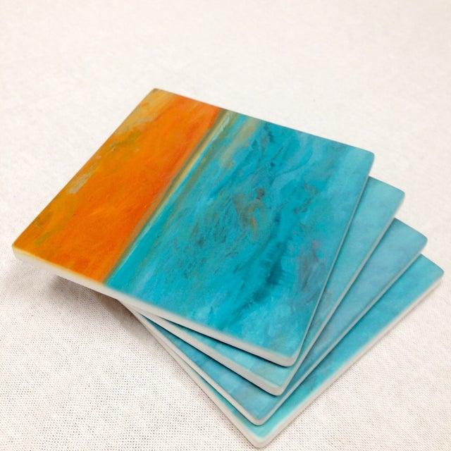 "Ocean Inspired Coasters, ""DayDream"" Sandstone - 4 - Image 2 of 6"