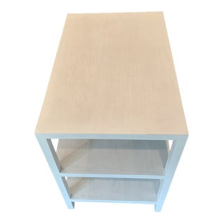Noir White Washed Side Table For Sale