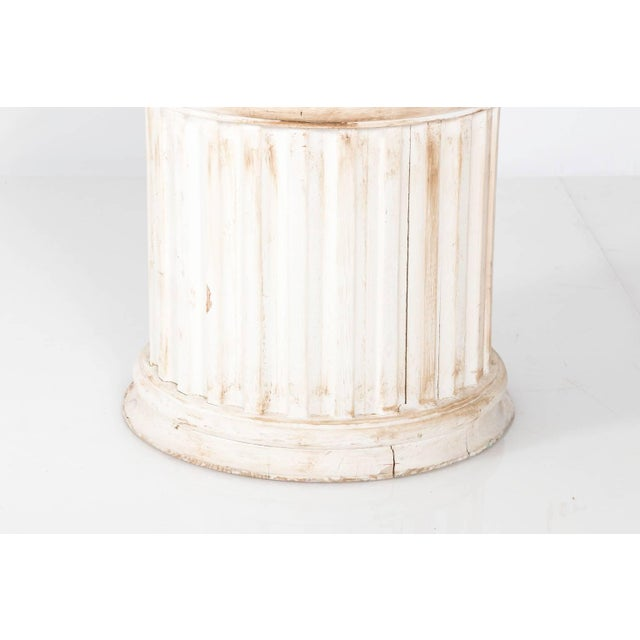 Late 20th Century Fluted Column Pedestal For Sale - Image 5 of 10