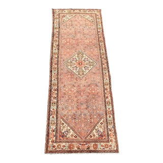 1940s Vintage Persian Hosenibad Runner Rug - 5′4″ × 9′7″ For Sale