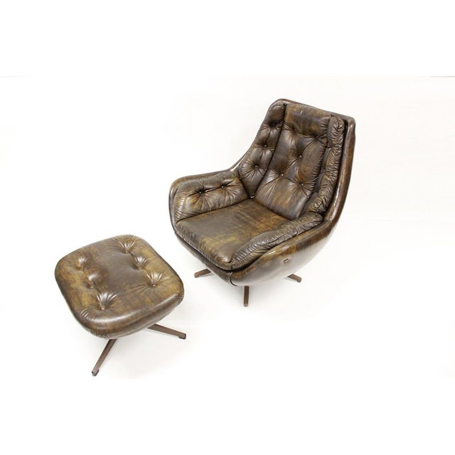 Mid Century Modern Carter Lounge Chair and Ottoman For Sale - Image 13 of 13