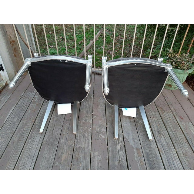 Bernhardt Louis Arm Chairs - a Pair For Sale - Image 9 of 13