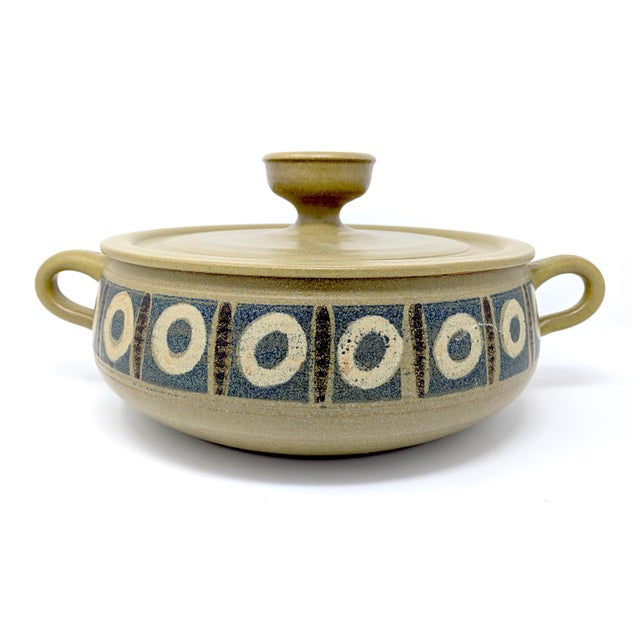 1970s Vintage Wishon-Harrell Pottery Covered Serving Dish For Sale - Image 10 of 10