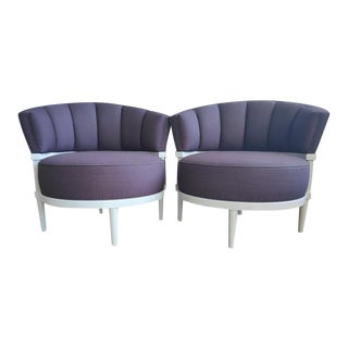 Modern Platner & Co. Barrel Lounge Chairs- a Pair For Sale
