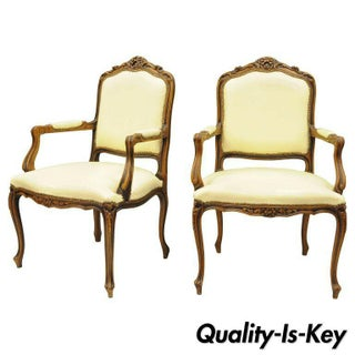 Late 20th Century Vintage Chateau d'Ax Louis XV Style Italian Arm Chairs- A Pair Preview