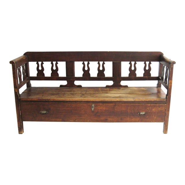 Antique Swedish Bench - Image 1 of 10