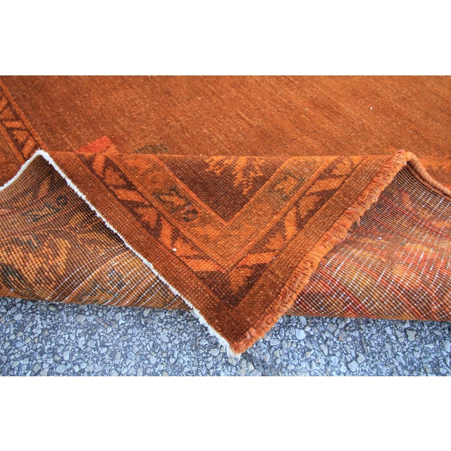 Vintage Turkish Orange Rug - 7'4 X 10'7 For Sale - Image 4 of 4