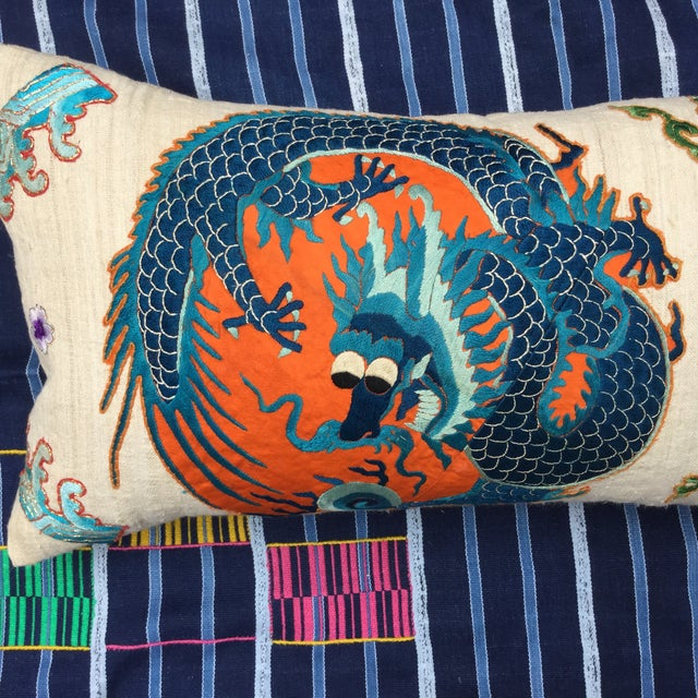 Chinese Emperor's Opera Robe Dragon Pillow - Image 4 of 8