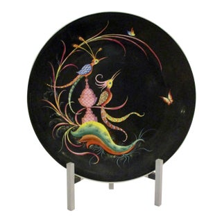 French Deco Charger With Birds For Sale