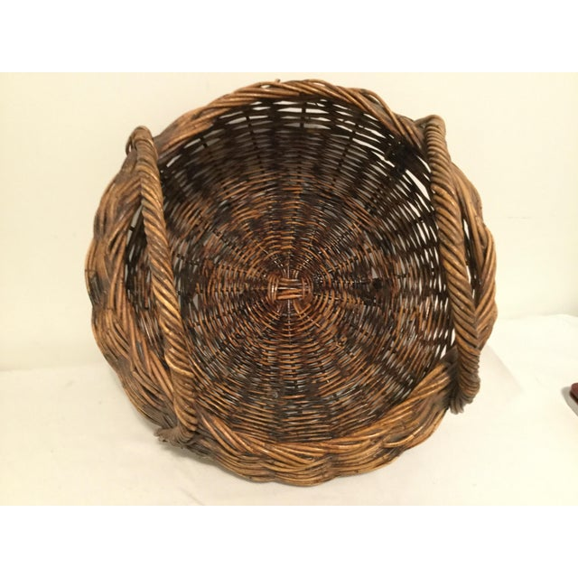 Brown Decorative Basket For Sale - Image 4 of 8