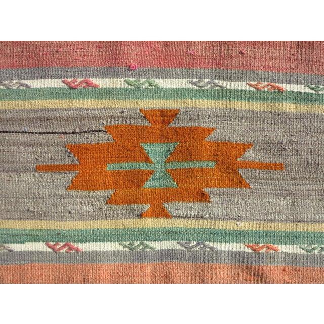 """Textile Vintage Turkish Kilim Runner-2'x10'4"""" For Sale - Image 7 of 13"""
