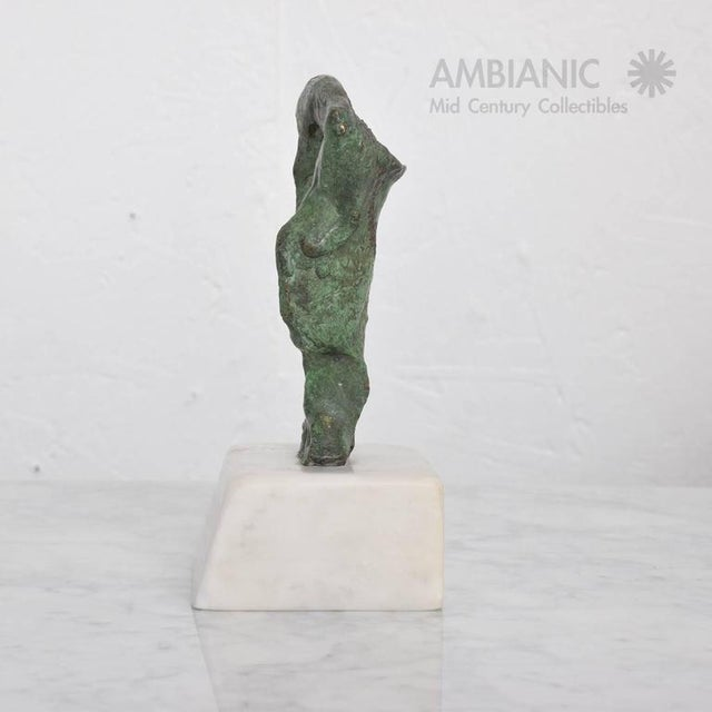 Mid-Century Modern Abstract Bronze & Marble Sculpture For Sale - Image 4 of 8