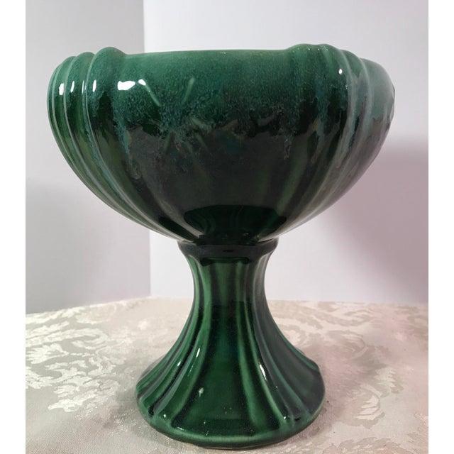 Green Drip Glaze Ceramic Planters - Set of 3 For Sale In Dallas - Image 6 of 11
